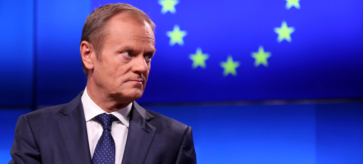 O πρόεδρος του Ευρωπαϊκού Συμβουλίου, Ντόναλντ Τουσκ (Φωτογραφία: ΑΡ/Francisco Seco)