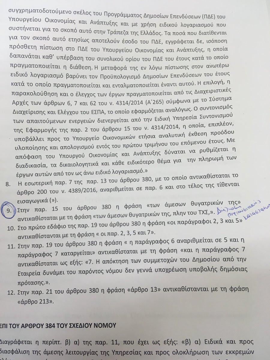 Τροπολογία στο παρά 5': Εξαιρούν τα μέλη του ΤΧΣ από την υποχρέωση υποβολής πόθεν έσχες [έγγραφο]