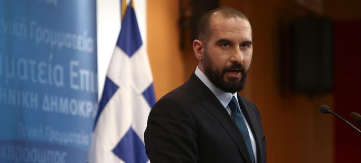 Ο Δημήτρης Τζανακόπουλος/ Φωτογραφία intime news