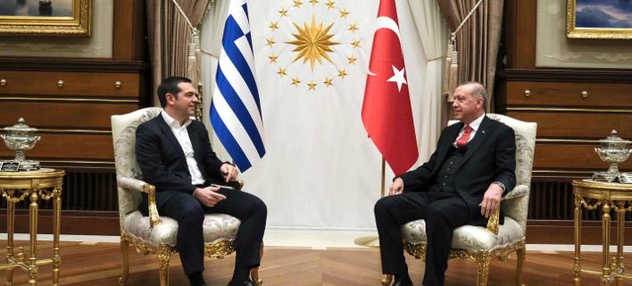 Αλέξης Τσίπρας και Ρετζέπ Ταγίπ Ερντογάν -Φωτογραφία: Εurokinissi