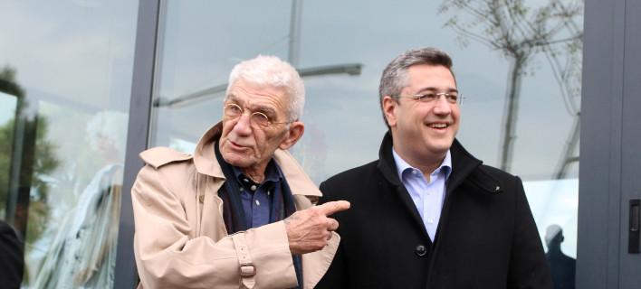 Γιάννης Μπουτάρης και Απόστολος Τζιτζικώστας/ Φωτογραφία: Eurokinissi