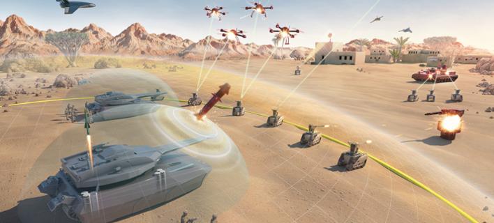 Οι πόλεμοι του μέλλοντος θα διεξάγονται με μη επανδρωμένα οχήματα, εφοδιασμένα με όπλα λέιζερ (Εικόνα: ΒΑΕ Systems)