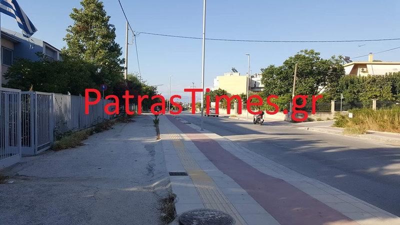 Δρόμος έξω από το σπίτι του άνδρα που απειλεί να αυτοκτονήσει/ Φωτογραφία patrastimes