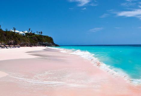 Ροζ αμμουδιά στις Μπαχάμες