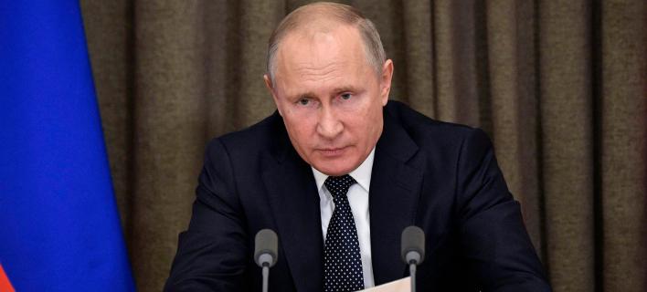 O πρόεδρος της Ρωσίας, Βλαντίμιρ Πούτιν (Φωτογραφία: Alexei Nikolsky, Sputnik, Kremlin Pool Photo via AP)