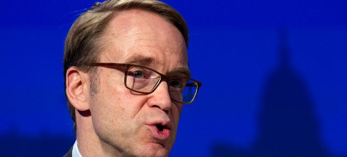 Ο πρόεδρος της κεντρικής γερμανικής τράπεζας, Γενς Βάιντμαν ζητά τερματισμό του QE/ Φωτογραφία: ΑΡ