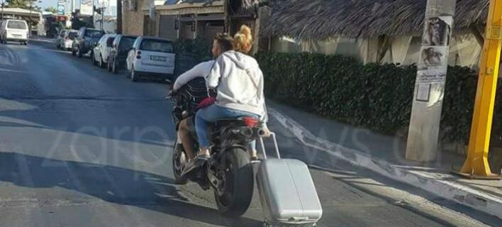 Ελληνάρας: Κοιτάξτε πώς μεταφέρει την βαλίτσα του [εικόνα]