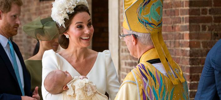Κέιτ Μίντλετον και πρίγκιπας Λούις (Φωτογραφία: Dominic Lipinski/Pool Photo via AP)