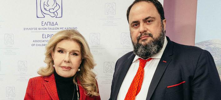 H Μαριάννα Β. Βαρδινογιάννη και ο Βαγγέλης Μαρινάκης
