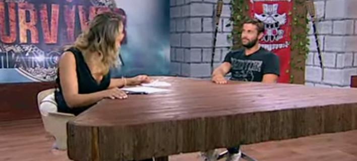 """Ο Βασάλος αποκαλύπτει στην Μελέτηι: """"Εφυγα για το Survivor ελεύθερος, δεν ξέρω πώς γύρισα με 2 σχέσεις"""" (VIDEO)"""