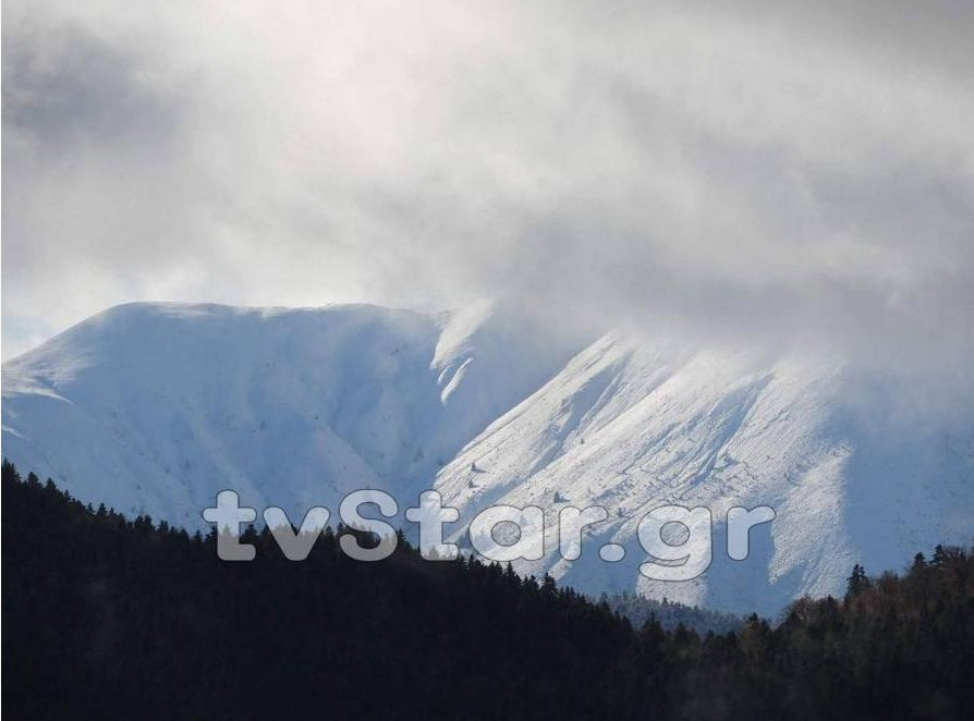Χιόνισε στο Βελούχι! Μαγευτικές εικόνες από το χιονισμένο τοπίο!
