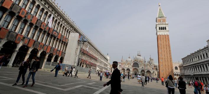 Το εστιατόριο βρίσκεται πολύ κοντά στην πλατεία του Αγίου Μάρκου, στη Βενετία (Φωτογραφία: ΑΡ/αρχείο)