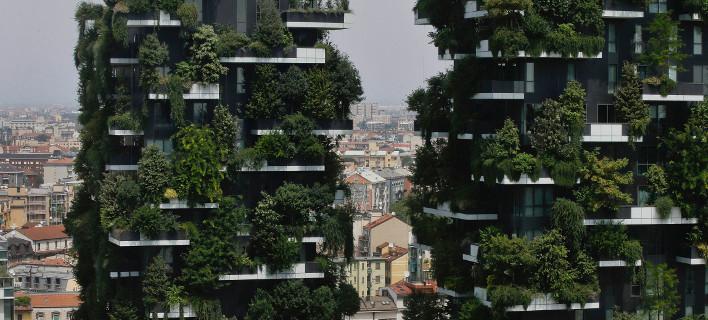 Vertical Forest στο Μιλάνο (Φωτογραφία: AP Photo/Luca Bruno)
