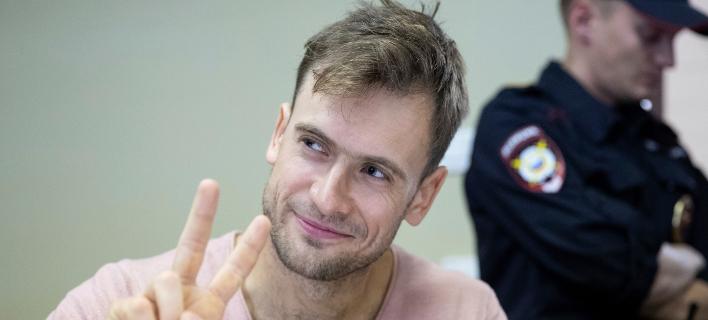 O Πιοτρ Βερζίλοφ. Φωτογραφία: AP
