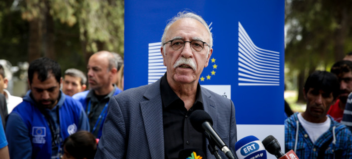 Ο Δημήτρης Βίτσας/ Φωτογραφία Eurokinissi
