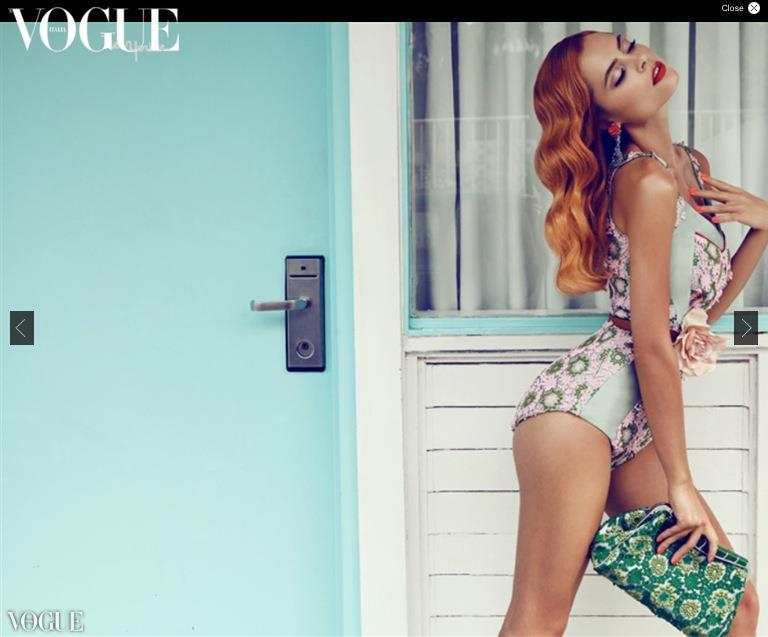 Φωτογράφιση για την ιταλική Vogue