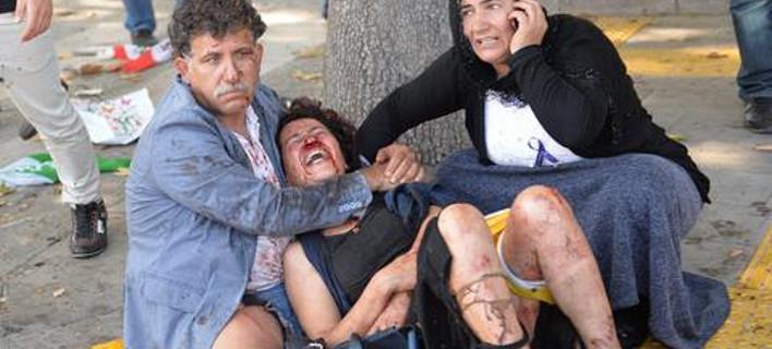 Χάος και οργή στην Αγκυρα -Τουλάχιστον 95 νεκροί από τη διπλή έκρηξη [εικόνες & βίντεο]