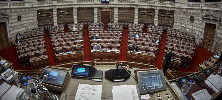 Η Ολομέλεια της Βουλής- φωτογραφία Γιώργος Κονταρίνης, eurokinissi