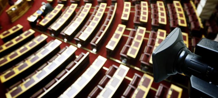 Η αίθουσα της Ολομέλειας της Βουλής / Φωτογραφία: Eurokinissi