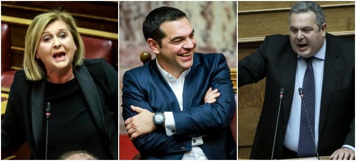 Αγρια κόντρα Καμμένου-Βούλτεψη με τον πρωθυπουργό να γελά -Φωτογραφία: EUROKINISSI/ΓΙΩΡΓΟΣ ΚΟΝΤΑΡΙΝΗΣ