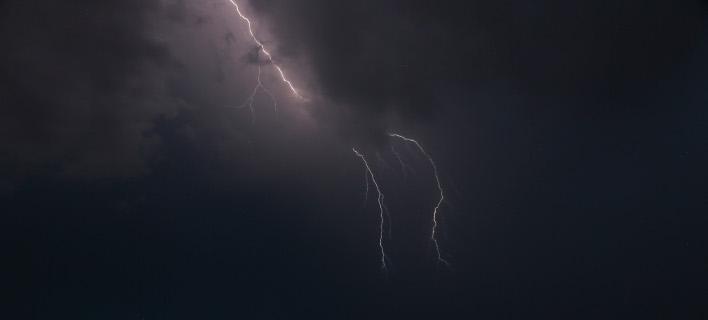 Καταιγίδα στη Μυτιλήνη (Φωτογραφία: IntimeNews/ΜΑΝΩΛΗΣ ΛΑΟΥΤΑΡΗΣ)