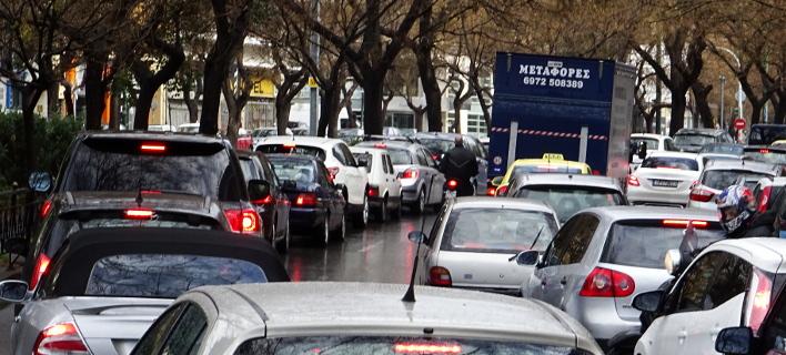 Μποτιλιάρισμα στην Αττική/Φωτογραφία: Eurokinissi