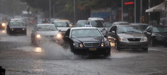 Βροχές σε αρκετές περιοχές σήμερα (Φωτογραφία: EUROKINISSI)