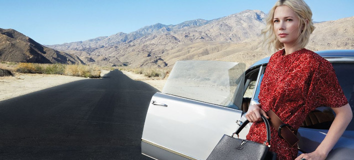 Η ηθοποιός Μισέλ Γουίλιαμς, είναι το πρόσωπο του οίκου Louis Vuitton για τα αξεσουάρ