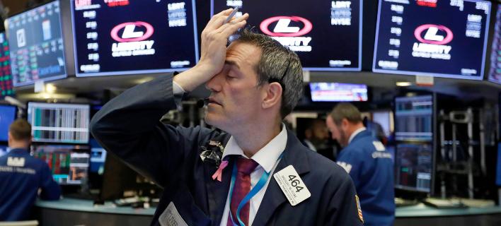 Δραματικές απώλειες σημειώνει η Wall Street -Φωτογραφία αρχείου: AP