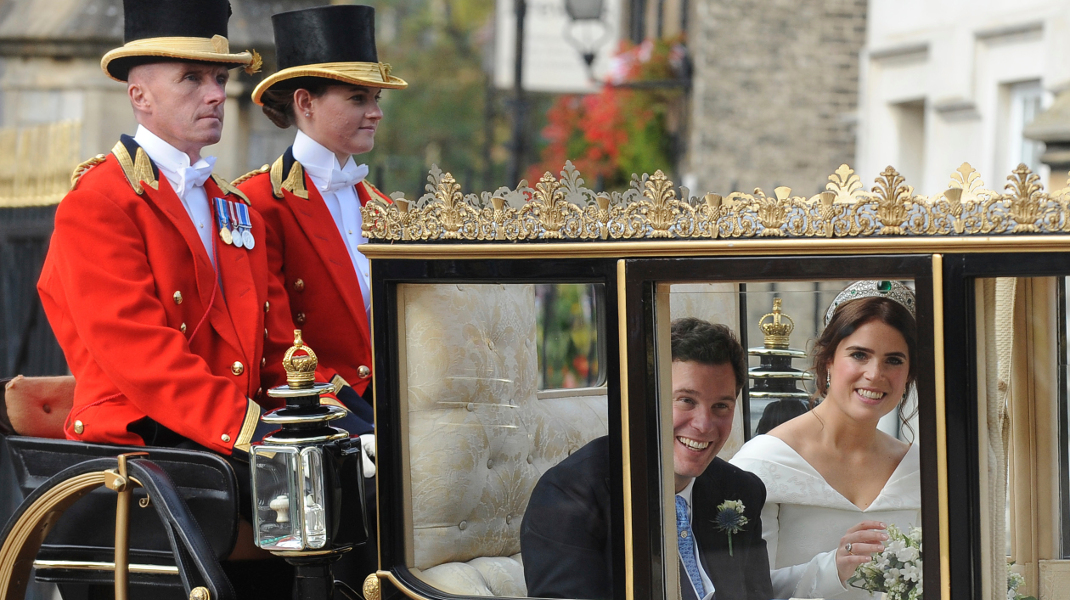 Γάμος σαν παραμύθι από την ανάποδη: Ο κοινός θνητός παντρεύτηκε την πριγκίπισσα Ευγενία -Φωτογραφία: AP Photo/Rui Vieira
