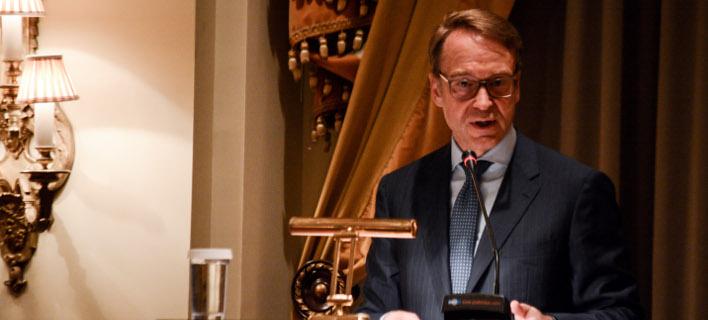 Ο πρόεδρος της Bundesbank Γενς Βάιντμαν -Φωτογραφία: EUROKINISSI/ΛΥΔΙΑ ΣΙΩΡΗ