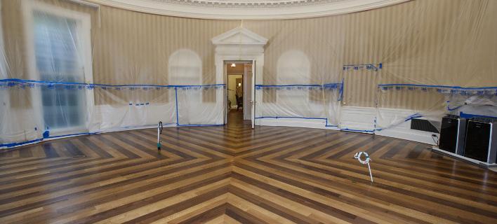 Ετσι είναι το Οβάλ γραφείο χωρίς έπιπλα (Φωτογραφία: AP/  J. Scott Applewhite)