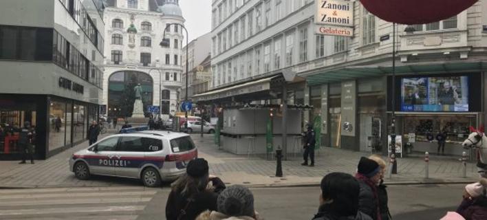 H αστυνομία έχει αποκλείσει την περιοχή γύρω από φημισμένο ρεστοράν της αυστριακής πρωτεύουσας (Φωτογραφία:  heute.at)