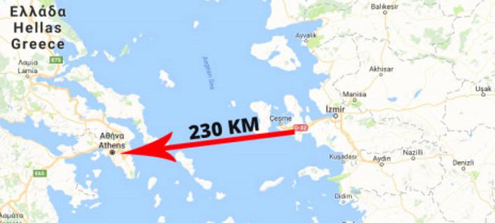 Ο χάρτης που δημοσίευσε η εφημερίδα AKGazete