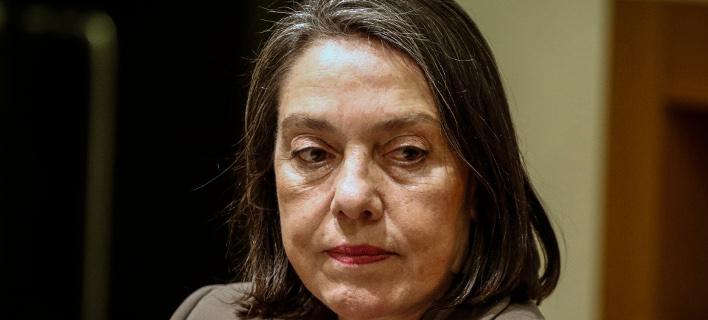 Η Μιράντα Ξαφά για το νέο βιβλίο του Γ. Παπαντωνίου -Φωτογραφία αρχείου: EUROKINISSI//Γιώργος Κονταρίνης