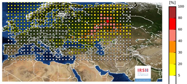 Χάρτης: Ποιες χώρες και πόσο επηρέασε η ραδιενέργεια που ανιχνεύτηκε και στην Ελλάδα