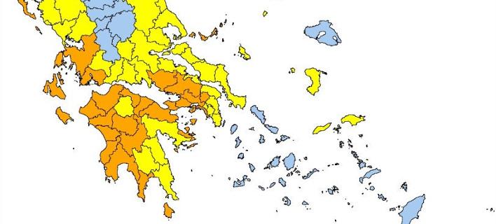 Σε ποιες περιοχές είναι υψηλός ο κίνδυνος πυρκαγιάς σήμερα