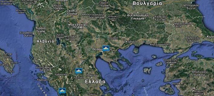 Ο επίμαχος χάρτης σε site του υπ. Αμυνας