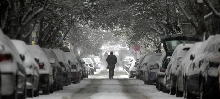 Η «Λητώ» έντυσε στα λευκά τη Β.Ελλάδα /Φωτογραφία Αρχείου: Sooc