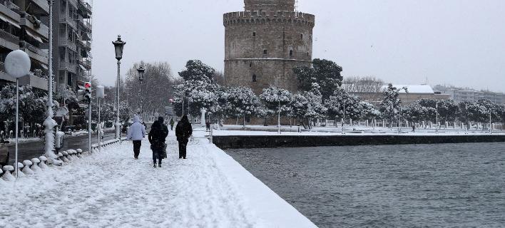 κακοκαιρία στη Θεσσαλονίκη/Φωτογραφία: Eurokinissi