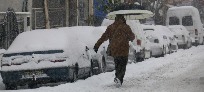 Χιονισμένο τοπίο σε Μακεδονία και Θράκη / Φωτογραφία: Eurokinissi