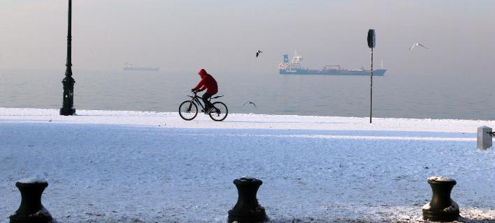 Χιόνι στην Θεσσαλονίκη/ Φωτογραφία: Eurokinissi- ΤΡΥΨΑΝΗ ΦΑΝΗ