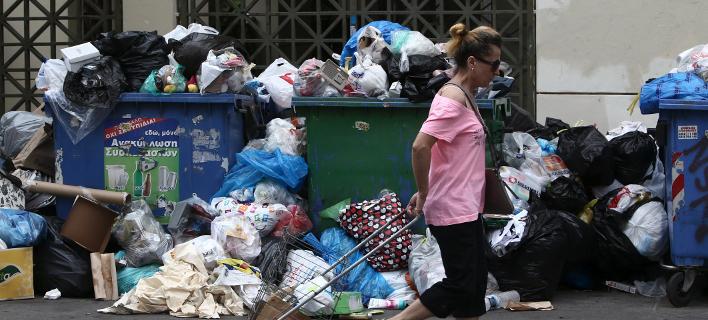 Σκουπίδια στην Αθήνα/ Φωτογραφία: INTIME NEWS