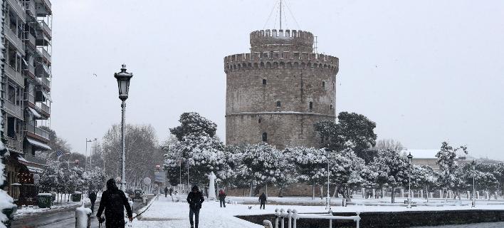 χιόνια στη Θεσσαλονίκη/Φωτογραφία αρχείου: Eurokinissi