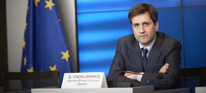 Ο αναπληρωτής υπουργός Οικονομικών Γιώργος Χουλιαράκης / Φωτογραφία: Eurokinissi