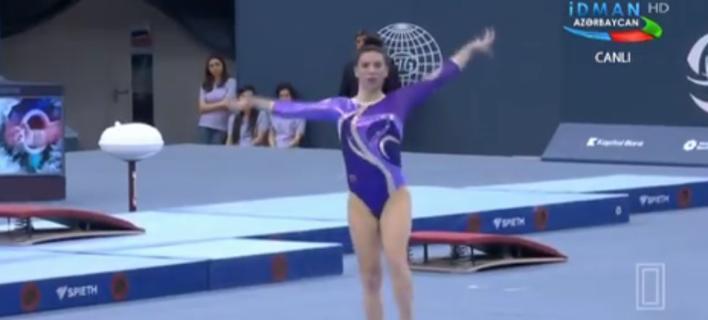 Δεύτερο ελληνικό μετάλλιο στο Παγκ. Κύπελλο γυμναστικής -Αργυρό η Ξουλόγη στις ασκήσεις εδάφους [βίντεο]