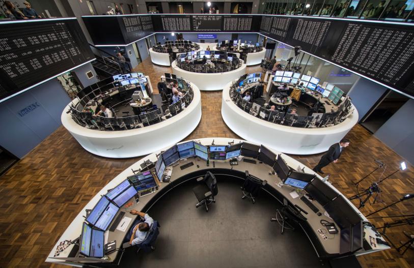 Το Χρηματιστήριο της Φρανφκούρτης/Φωτογραφία: AP