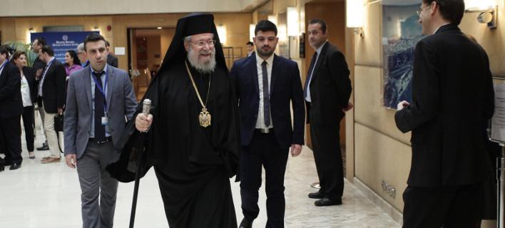 Αρχιεπίσκοπος Κύπρου: Δεν δεχόμαστε λύση για το κυπριακό χωρίς αποχώρηση τουρκικών στρατευμάτων /Φωτογραφία: Eurokinissi