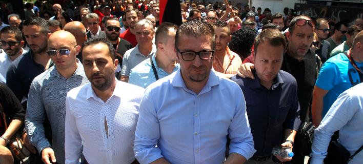 Ο εθνικιστής ηγέτης του VMRO Χριστιάν Μικόσκι / Φωτογραφία: AP Images