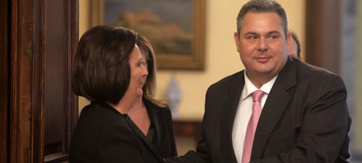 Η Μαρίνα Χρυσοβελώνη όταν ορκίστηκε υφυπουργός ως στέλεχος των ΑΝΕΛ